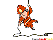 Feuerwehr Training Illustration, Clipart, Bild