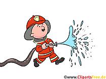 Feuerwehrmann Sam-Sommer, Wasser, Schlauch Illustration, Comic, Bild, Cartoon