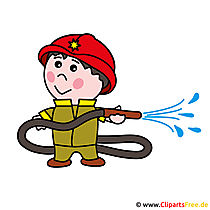 Firefighter cartoon foto gratis