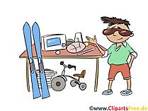 Loppmarknad Clipart - Säljer i basaren