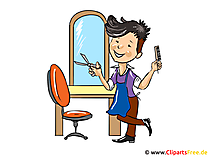 Hairdresser cartoon - profession pictures for free