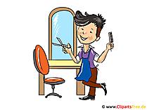 Kapper cartoon - gratis beroepfoto's