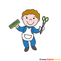 Friseur Cartoon Bild kostenlos