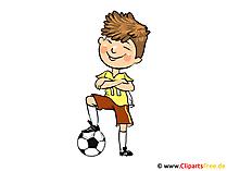 Fotbollsspelares bild, clipart, tecknad film, bild, illustration
