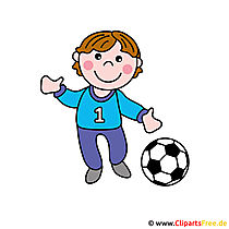 Fussballspieler Cartoonbild kostenlos - Berufe Bilder free