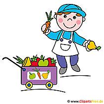 Gärtner Clipart Bild kostenlos