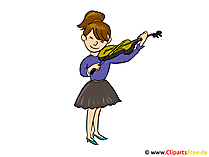Playing violin clipart, picture, cartoon, free illustration