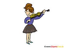 Viool clipart, afbeelding, tekenfilm, gratis illustratie
