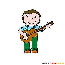 Gitarist, gitarist afbeelding clipart gratis