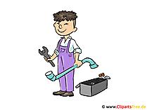 Handwerker, Schlosser Clipart, Bild, Cartoon, Illustration kostenlos