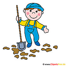 Caretaker, Street Sweeper clipart image for free