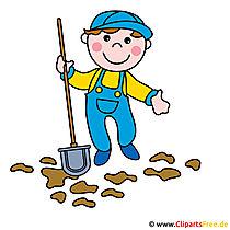 Caretaker, Street Sweeper clipart afbeelding gratis