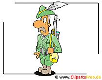 Hunter Clipart gratis - Beroepen afbeeldingen gratis