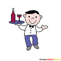 Waiter Clipart Picture - Professions Pictures