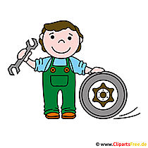 KFZ Mechaniker Clipart Logo gratis