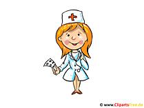 Afbeelding van de verpleegster, clipart, cartoon, gratis illustratie