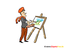 Artist Image, clipart, cartoon, gratis illustratie