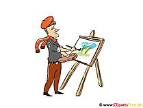 Künstler Bild, Clipart, Cartoon, Illustration kostenlos