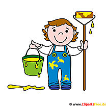 Maler Clip Art Bild - Berufe Bilder
