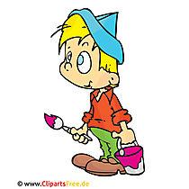 Schilder clipart, afbeelding, cartoon, grafisch, illustratie