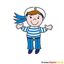 Sailor Clipart-afbeelding - Beroepen afbeeldingen