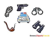 Polisarbete ClipArt, bilder, bilder