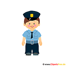 Politie cartoon clipart gratis