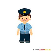 Polis tecknad filmklipp gratis