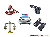 Politie illustraties gratis