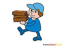Postman clipart, afbeelding, illustratie gratis