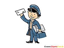 Postbote Bild, Cartoon, Illustration, Clipart