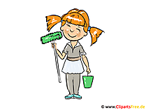 Cleaning lady Image, Clipart, Cartoon, Image