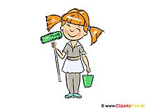 Schoonmaakster Afbeelding, Clipart, Cartoon, Afbeelding
