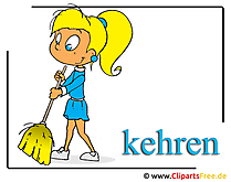 Cleaning lady clipart free
