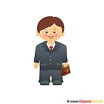 Advocaat cartoon afbeelding gratis