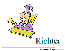 Judge cartoon clipart image for free
