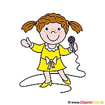 Sängerin Clipart Bild kostenlos
