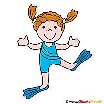 Schwimmen Clipart Bild gratis