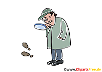Sherlock Holmes Clipart is looking for traces