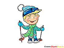 Skifahrer Clipart, Bild, Cartoon, Illustration kostenlos
