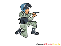Spezialeinheit Polizei Illustration, Bild, Clipart