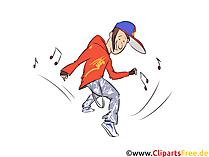 Brake Dance Illustration, Clip Art