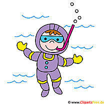 Diver image clipart for free