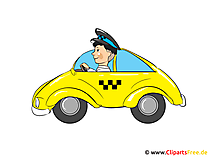 Taxi Clipart, Bild, Cartoon, Illustration kostenlos