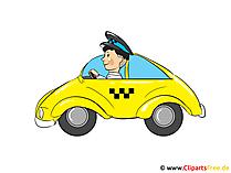 Taxi clipart, bild, tecknad film, illustration gratis