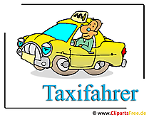 Taxi driver image clipart free