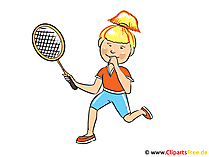 Tennisspielerin Bild, Clipart, Cartoon, Illustration kostenlos