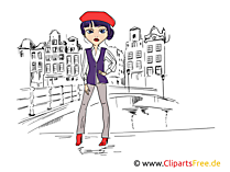 Beautiful women, top model illustration, image, clipart