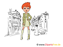 Girl, Top Model, Star, Women Illustration, Clipart