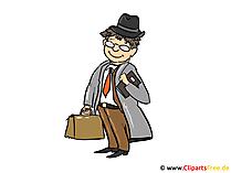 Versicherungsmakler, Makler Bild, Clipart, Cartoon kostenlos